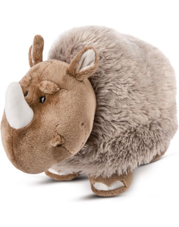 Nici plush woolen rhinoceros Ellinor 23 cm standing STONE AGE FRIENDS 46649