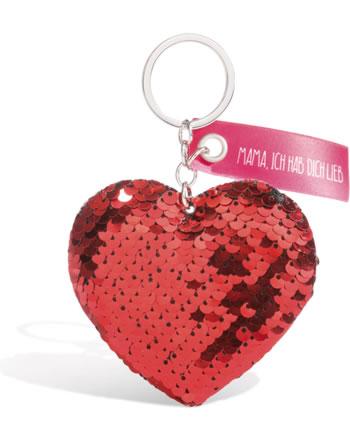 Nici Schlüsselanhänger Herz mit Pailletten 44880