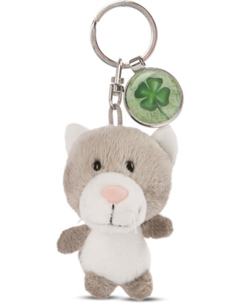 Nici Key Ring Messengers cat with cloverleaf 47530