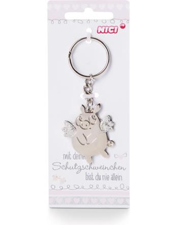 Nici Schlüsselanhänger Schutzschweinchen Metall 46051