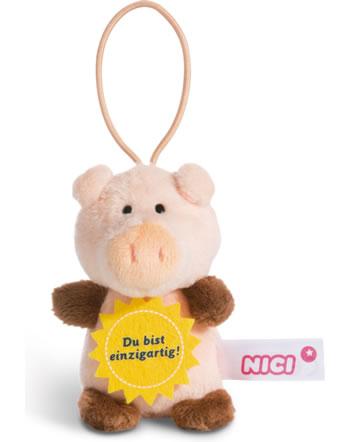 Nici pig Du bist einzigartig 8 cm with loop Message to go