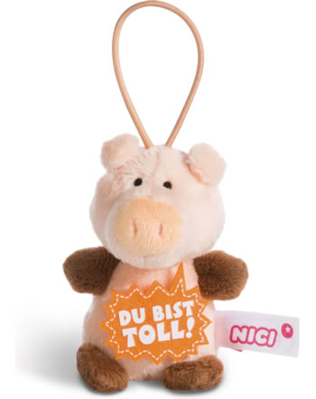 Nici pig Du bist toll 8 cm with loop Message to go