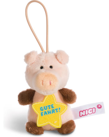 Nici pig Gute Fahrt 8 cm with loop Message to go
