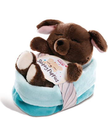 Nici Sleeping Puppies Chien brun 12 cm peluche 45372