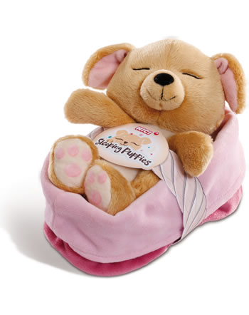 Nici Sleeping Puppies Chien caramel 16 cm peluche 45374