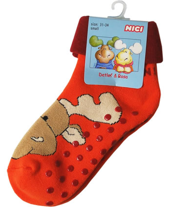 Nici Abs-Socken Elch Rosa orange