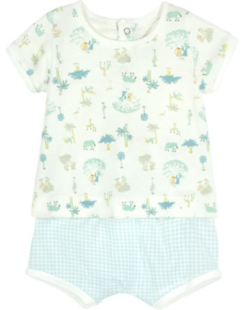 Petit Bateau 2-teiliges Baby-Set Shirt & Hose marshmallow/multicolor 54530-01