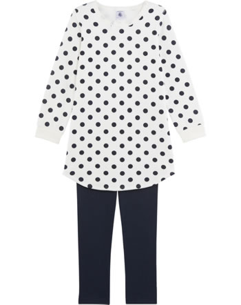 Petit Bateau Nightdress and leggings set DOTS blue/white 25216-40