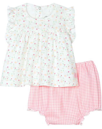 Petit Bateau Baby-Bluse mit Höschen 2er Set marshmallow/multic. 54529-01