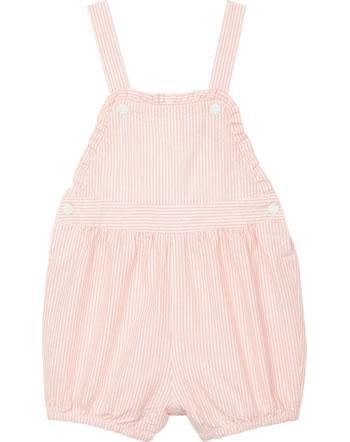 Petit Bateau Baby-Latzhose für Mädchen gestreift rosako/marshmallow 52966-01