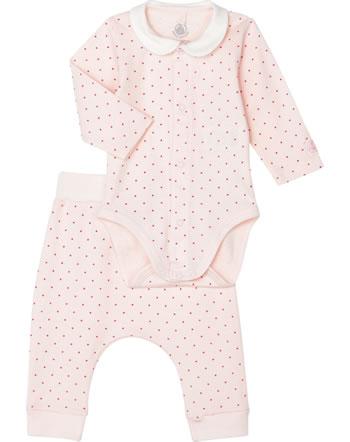 Petit Bateau Body manches longues et pantalons lot de 2 fleur/geisha 54881-01