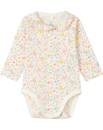 Petit Bateau Body long sleeve LANCINE marshmallow/multicol. 56966-01