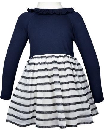 Petit Bateau Robe tulle et manches courtes blanc/bleu 44353-01