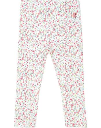 Petit Bateau Leggings mit Rüschen für Mädchen marshmallow/multicolor 53417-03