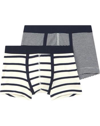 Petit Bateau Boxer shorts pour garçons set of 2 bleu/crème 49014-00