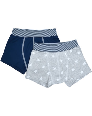 Petit Bateau Jungen-Boxer Shorts 2er Set Sterne blau/grau 51192-00