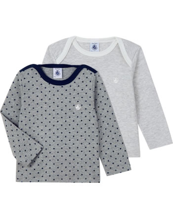 Petit Bateau Boys T-shirt set of 2 long sleeves 57001-99