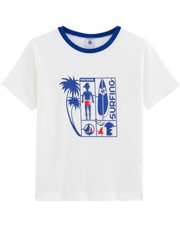 Petit Bateau Jungen T-Shirt Kurzarm marshmallow/surf 54250-03