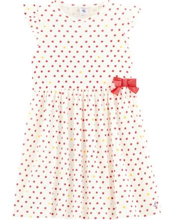 Petit Bateau Robe marine à manches courtes marshmallow/multicolor 53499-02