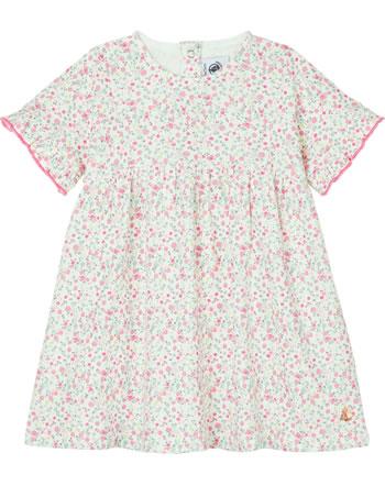 Petit Bateau Robe à manches volantées motif floral marshm./multicolor 53515-01