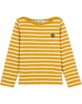 Petit Bateau Langarm Shirt mit Streifen boudor/marshmallow 55632-03