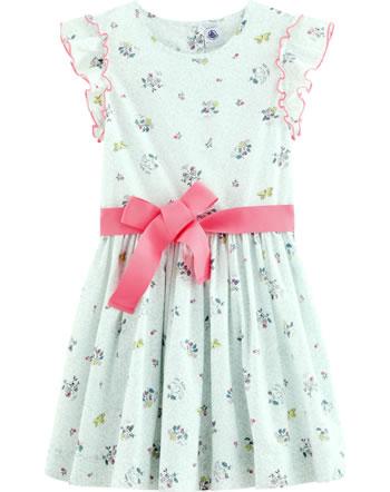 Petit Bateau Mädchen-Kleid m. Gürtel Kurzarm marshmallow/multicolor 53507-01