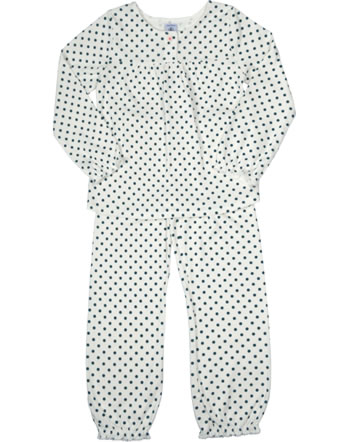 Petit Bateau Sleeping suit Set of 2 dots white/blue 51208-01