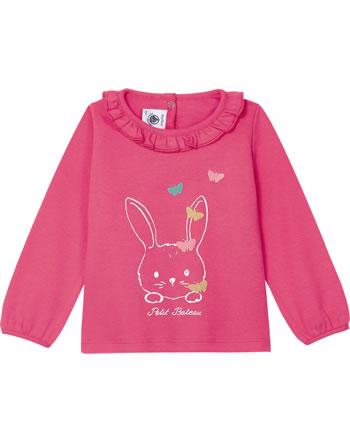 Petit Bateau Shirt manches longues lièvre rose 52844-02
