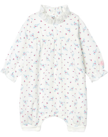 Petit Bateau Girl Romper with floral pattern white/pink 53147-01