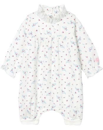 Petit Bateau Mädchen-Strampler mit floralem Muster weiß/rosa 53147-01