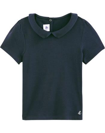 Petit Bateau T-shirt wwith collar short sleeve smoking 54245-02