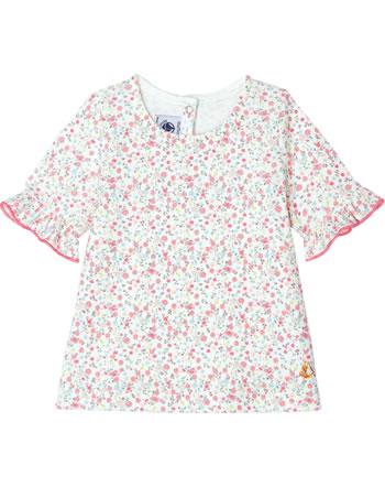 Petit Bateau T-shirt with ruffles short sleeve marshmallow 53599-01