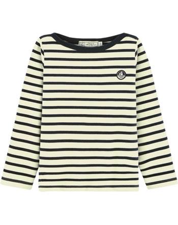 Petit Bateau Maritimes Shirt Langarm marshmallow/smoking 55632-01