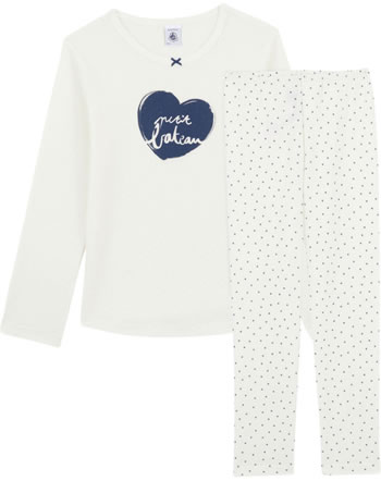 Petit Bateau Sleeping suit Set of 2 LILIA marshmallow/medieval 56068-01