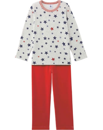 Petit Bateau Sleeping suit STARS froufrou red/grey 25454-67