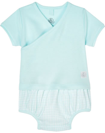 Petit Bateau Wickel-Body Kurzarm marshmallow/amandier 54526-01