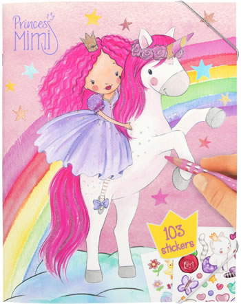 Princess Mimi painting book with sticker Unicorn