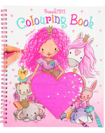 Princess Mimi painting book with sequins