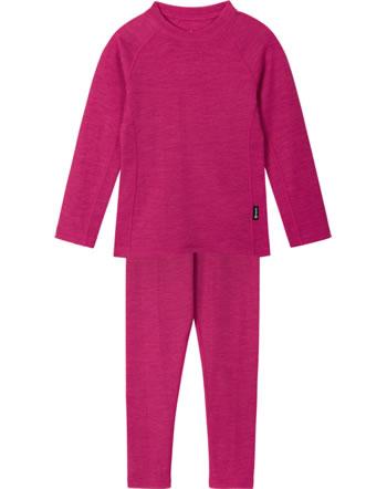 Reima Kinder Thermo-Funktionsunterwäsche Set KINSEI cranberry pink 536446-3600