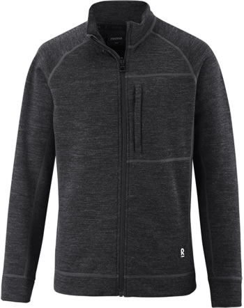 Reima Kinder Sweat-Jacke mit Stehkragen Merino MAHTI black melange 536519-9510