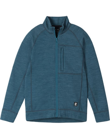 Reima Kinder Sweat-Jacke mit Stehkragen Merino MAHTI deep ocean 536519-7710
