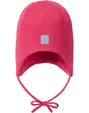 Reima Wollmütze Beanie mit Bänder Merinowolle PIPONEN azalea pink 518603-3530