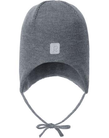 Reima Wollmütze Beanie mit Bänder Merinowolle PIPONEN melange grey 518603-9400