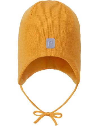 Reima Wollmütze Beanie mit Bänder Merinowolle PIPONEN orange yellow 518603-2400