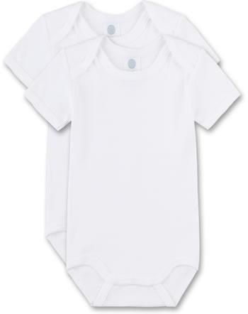 Sanetta 2-er Set Body Kurzarm m. Logo-Print weiß 321860-10 GOTS