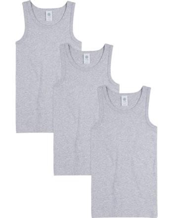 Sanetta Set of 3 undershirts boys NOS light grey melange 333735-1646