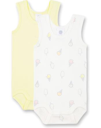 Sanetta Body bébé sans bras lot de 2 Ice Baby white pebble 323145-1948