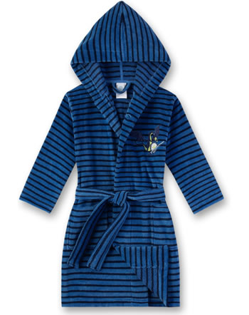 Sanetta Bademantel/Morningcoat Velours Frottee river blue 232320-50047