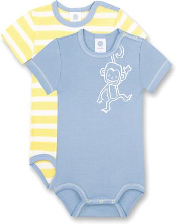 Sanetta Body set of 2 short sleeve Monkey mood 323154-5026 GOTS