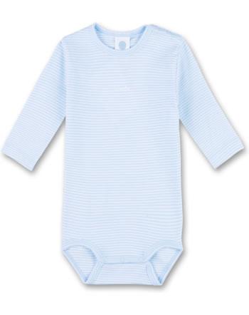 Sanetta Body Langarm STREIFEN soft blue 322461-50266 GOTS